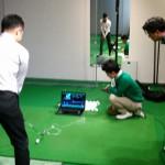 BodiTrakによる重心移動測定デモ@KSアイランドゴルフアカデミー